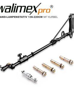 walimex pro Wand-Lampenstativ Heavy Duty Deluxe mit Kurbel