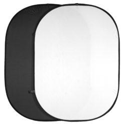 walimex Falthintergrund Doppelpack schwarz + weiß 150x200