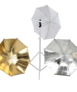 walimex Blitz- und Schirmhalter-Set für Systemblitze