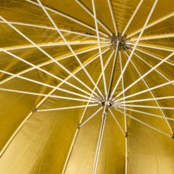 walimex Reflexschirm schwarz/gold