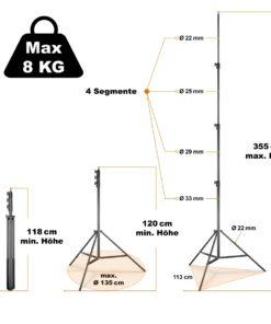 walimex pro Lampenstativ AIR 355