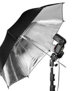 walimex Lampenhalterung mit Blitzschuh
