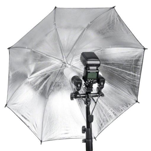walimex 2-fach Lampenhalterung mit Blitzschuh