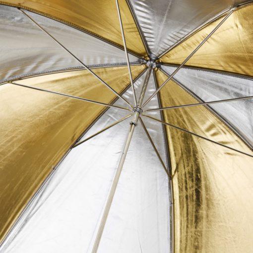 walimex Reflexschirm gold/silber 2-lagig ⌀109cm