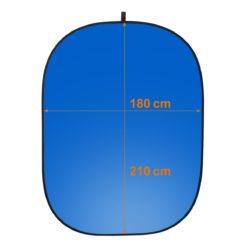 walimex 2in1 Falthintergrund grau/blau 180×210cm