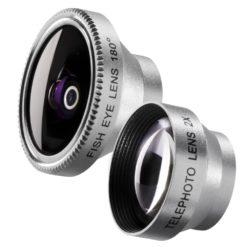 mantona Fish-Eye und Tele-Objektiv für Smartphone