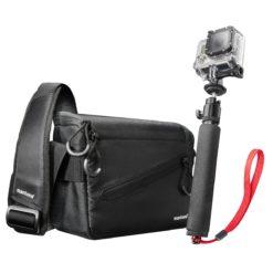 mantona Irit Tasche für GoPro mit Handstativ
