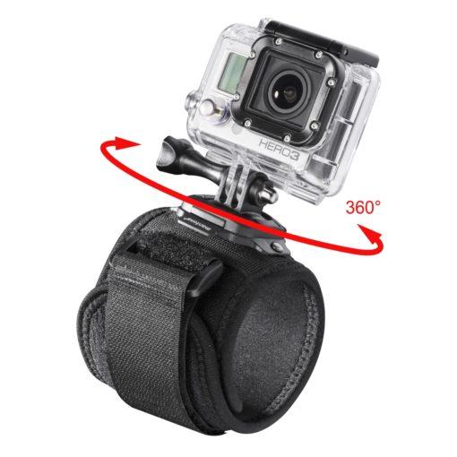 mantona Armgurt mit 360° Halterung für GoPro, gepolstert