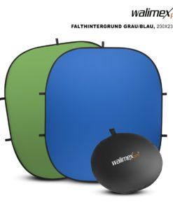 walimex 2in1 Falthintergrund grün/blau 200×230cm