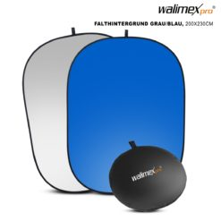 walimex 2in1 Falthintergrund grau/blau 200×230cm