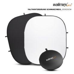 walimex 2in1 Falthintergrund schwarz/weiß 200×230cm