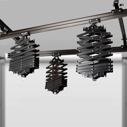 walimex Deckenschienen-System 4x3m mit 3 Scheren