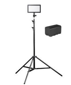 walimex pro Soft LED 200 Square BiColor mit Akku und Stativ