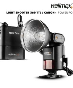 walimex pro Light Shooter 360 TTL für Canon mit Power Porta