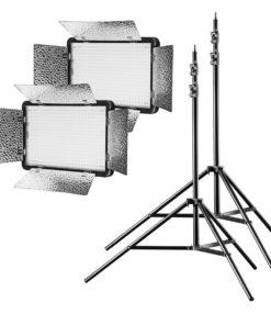 walimex pro LED 500 Versalight BiColor mit 2 Stativen
