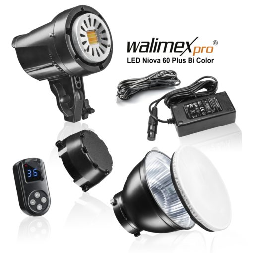 walimex pro LED Foto Video Studioleuchte Niova 60 Plus BiColor