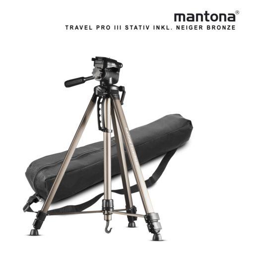 mantona Basic Travel Pro III, bronze