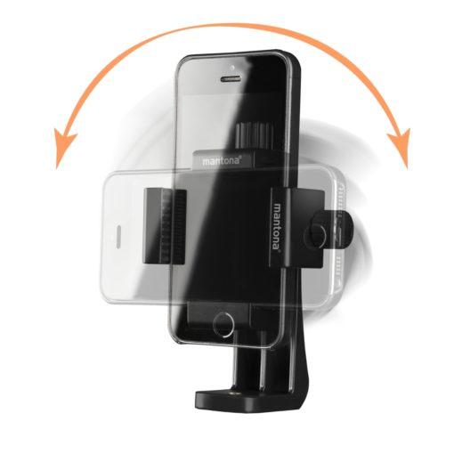 mantona Smartphone Halter Rotate Clip 100
