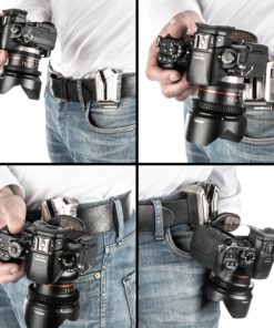 walimex pro Kamera Hüftgurt mit V-Dock Argus