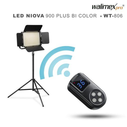 walimex pro LED Niova 900 Plus BiColor mit Stativ