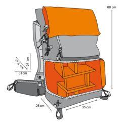 mantona Kamerarucksack elements Pro 50 grau/orange