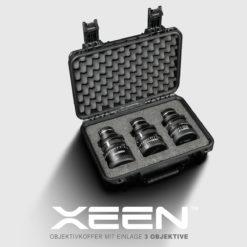 XEEN CF Objektivkoffer mit Einlage für 3 Objektive
