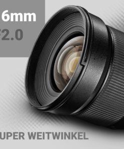 walimex pro 16/2,0 APS-C für Sony E
