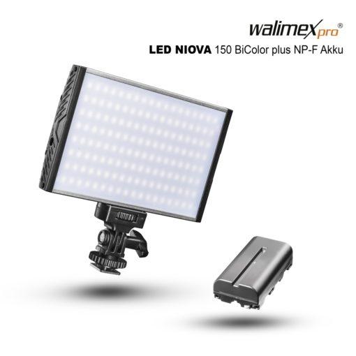 walimex pro On Camera LED Niova 150 BiColor inkl. Akku