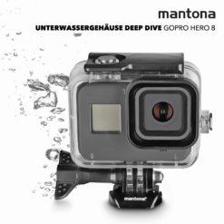 mantona Unterwassergehäuse Deep Dive für GoPro Hero 8