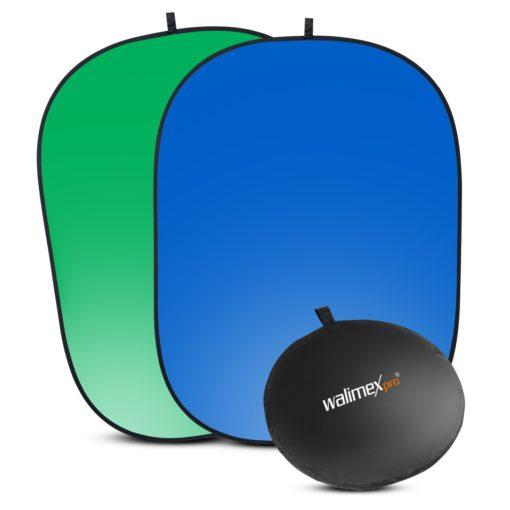 walimex 2in1 Falthintergrund grün/blau 150×210cm