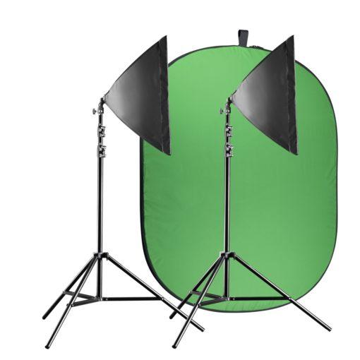 walimex pro Green-/Bluescreen Set Flexi