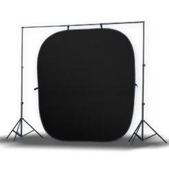 Jumbo 2in1 Falthintergrund schwarz/weiß 240×240cm