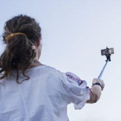 mantona Handstativ Selfy Reportage Set für iOS