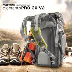 mantona Kamerarucksack elementsPro 30 Version II, grün
