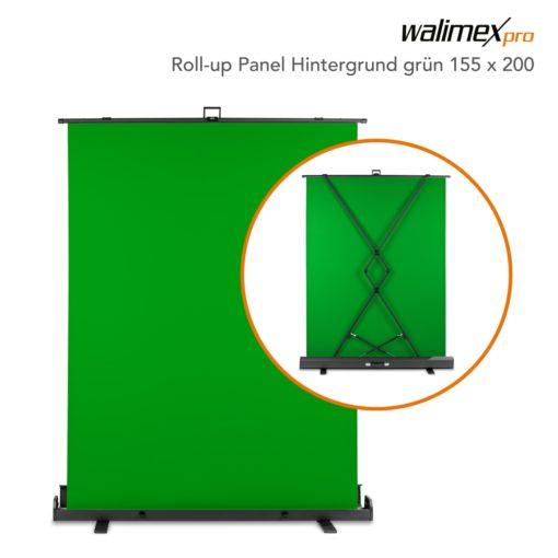 walimex pro Roll-up Panelhintergrund, 155x200cm