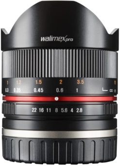 Walimex Pro 8mm 1:2,8 Fish-Eye II CSC-Objektiv für Canon M